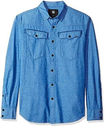 8deb6445a278 Amazon.com: G-Star Raw Men's 3301 Long Sleeve Button Down Shirt Imperial:  Clothing