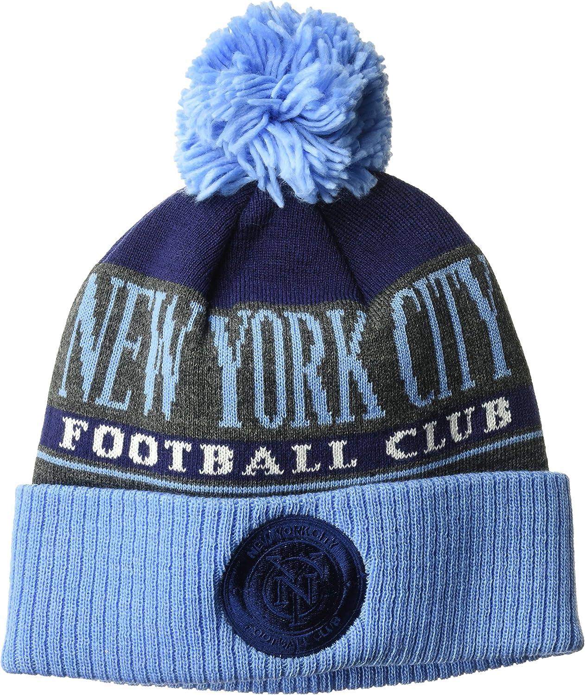adidas MLS Adult Men Heathered Gray Cuffed Knit W//Pom
