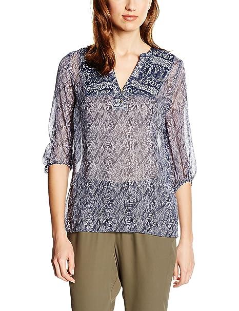 Cortefiel, Blouse L/S Chiffon Printe - Blusa para Mujer, Color Blues, Talla L: Amazon.es: Ropa y accesorios