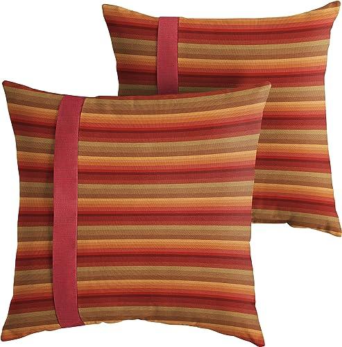 Mozaic Company AMPS112207 Indoor Outdoor Sunbrella Square Pillow
