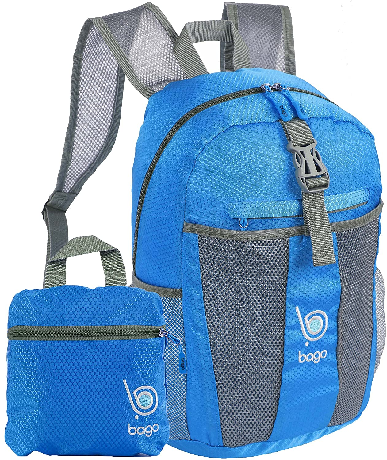 69c854ba28 chic bago Lightweight Foldable Backpack for Travel and Sport - 25L  Collapsible Daybag