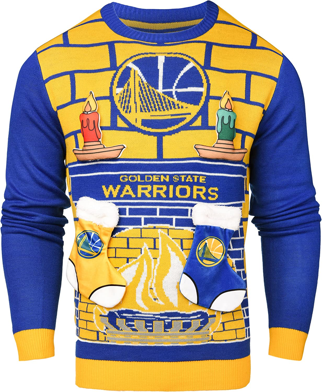 NBA 3d醜いセーター L イエロー