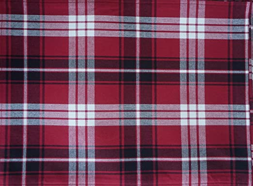 Christmas Tablescape Decor - Ralph Lauren Classic Nicolas Tartan Plaid Placemats - Set of 4