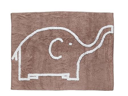Aratextil Elefante Alfombra Infantil, Algodón, Topo, 120 x 160 cm ...