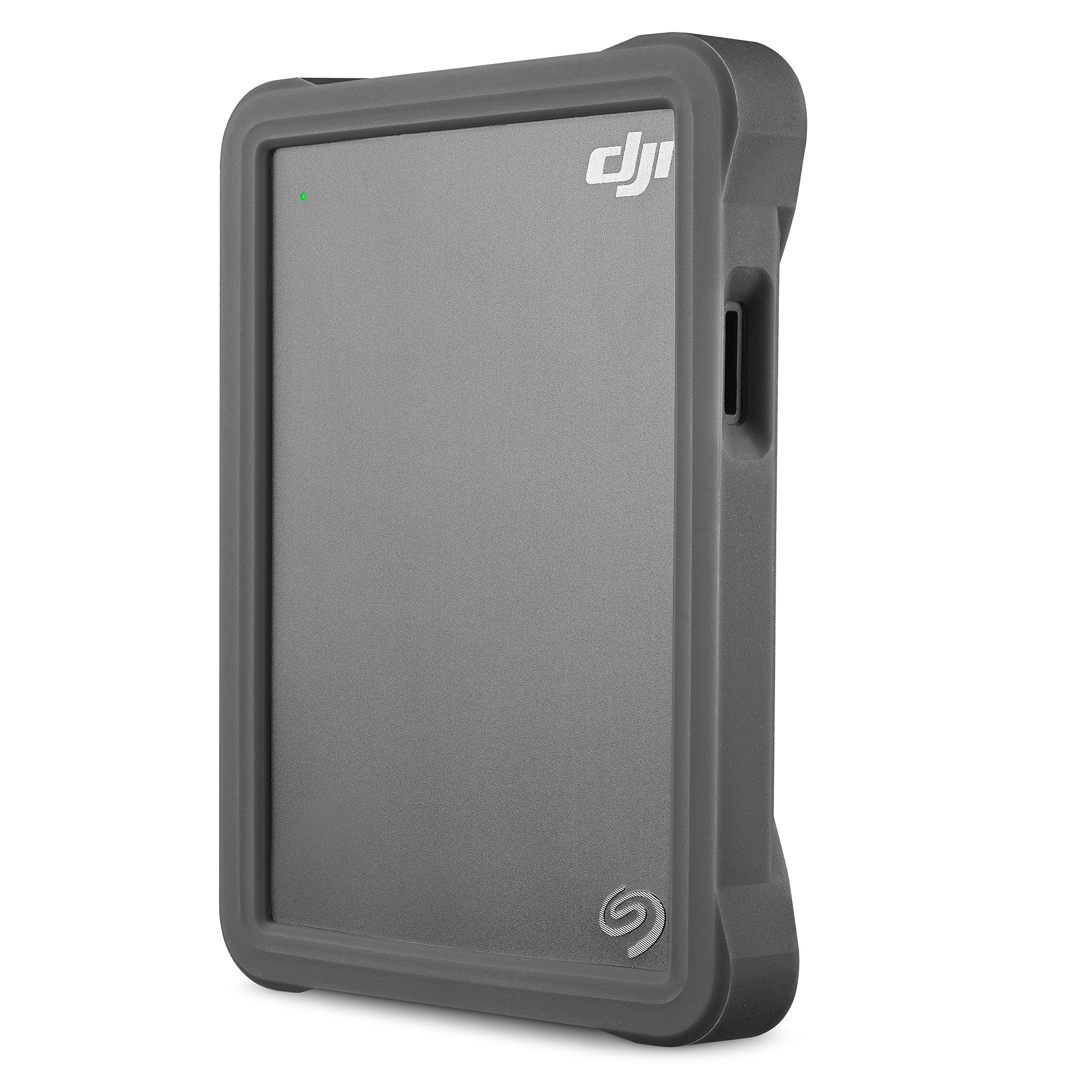 Seagate DJI Fly Drive for Drone Footage -Portable Drive withMicro SDCard Slot and USB-C to USB-C cable + 2mo Adobe Premier Pro CC by Seagate