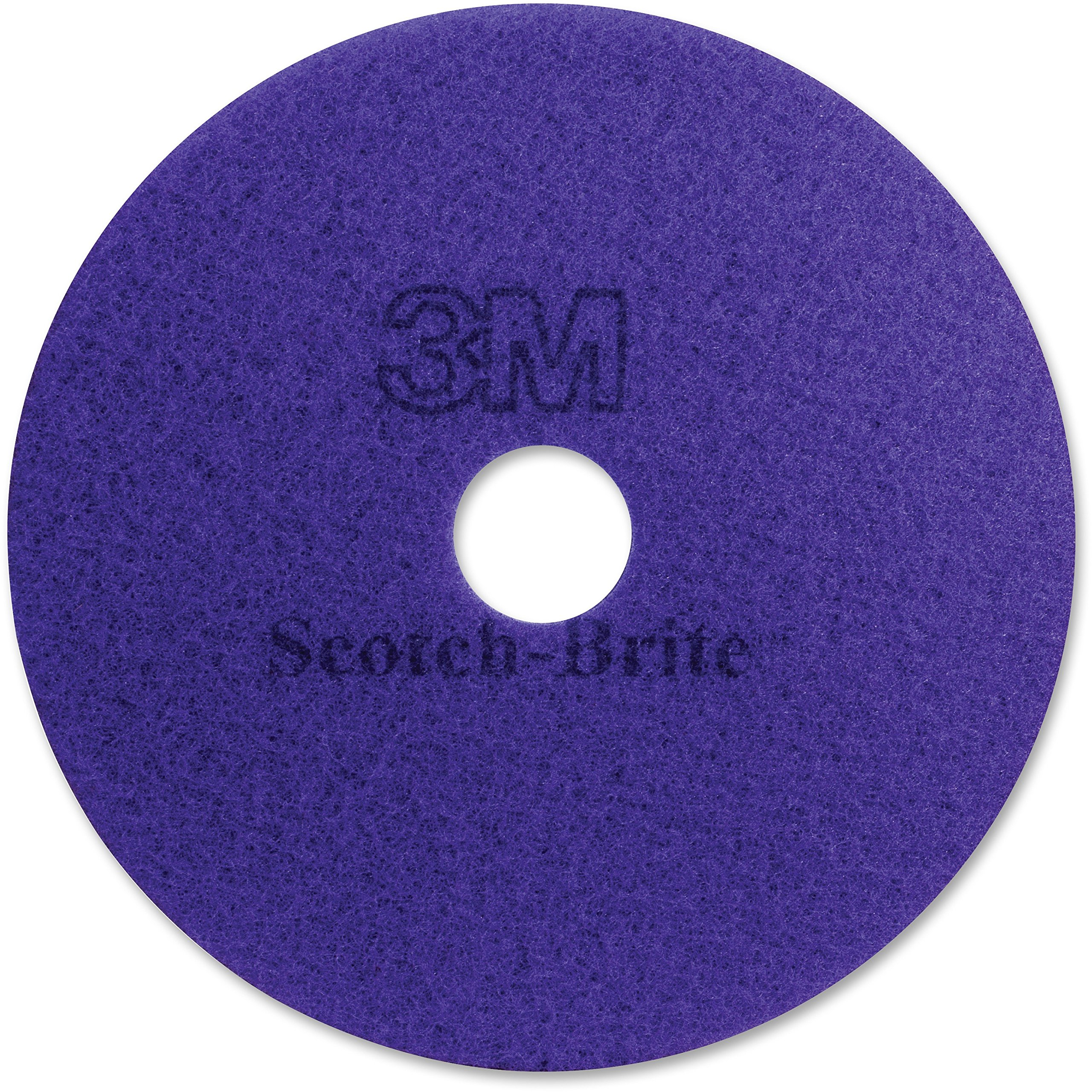 3M 23894 Diamond Floor Pads, 20'' Diameter, Purple, 5/Carton