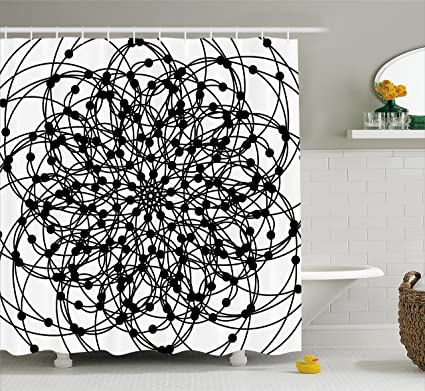 Mandala Shower Curtain By Lunarable Ancient Sign With Sacred Geometry Symbols And Elements Religion Spirituality