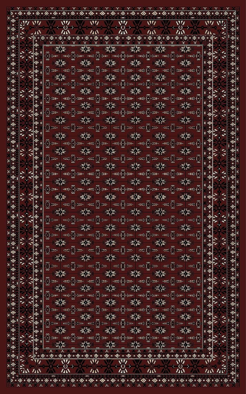 Carpetsale24 Orientteppich für Wohnzimmer kurzflor Pflegeleicht Orientalisch Traditional Afghanischer Muster Oeko Tex Standarts Rot, Maße 300x400 cm
