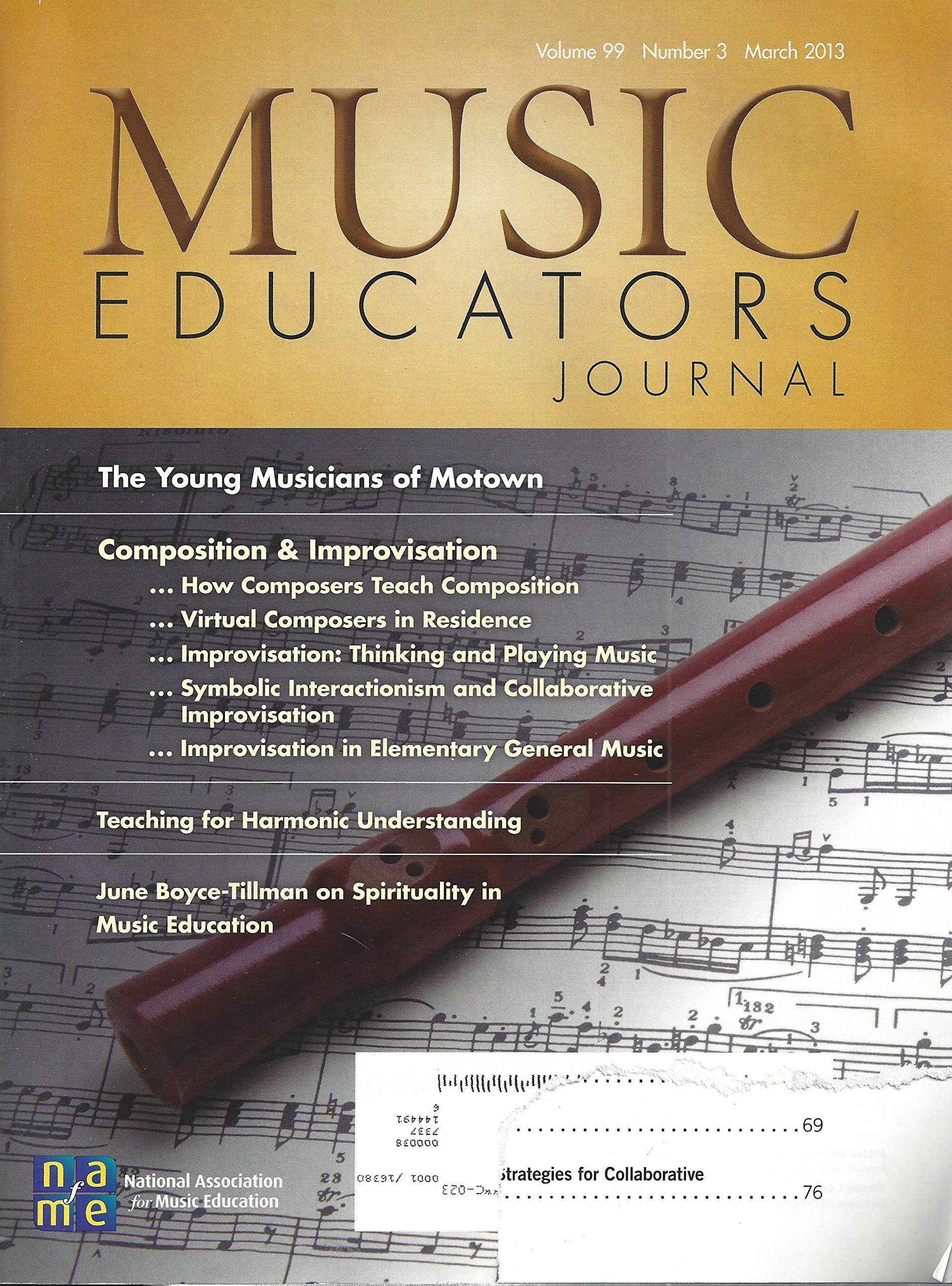 Music Educators Journal The Young Musicians Of Motown Teaching