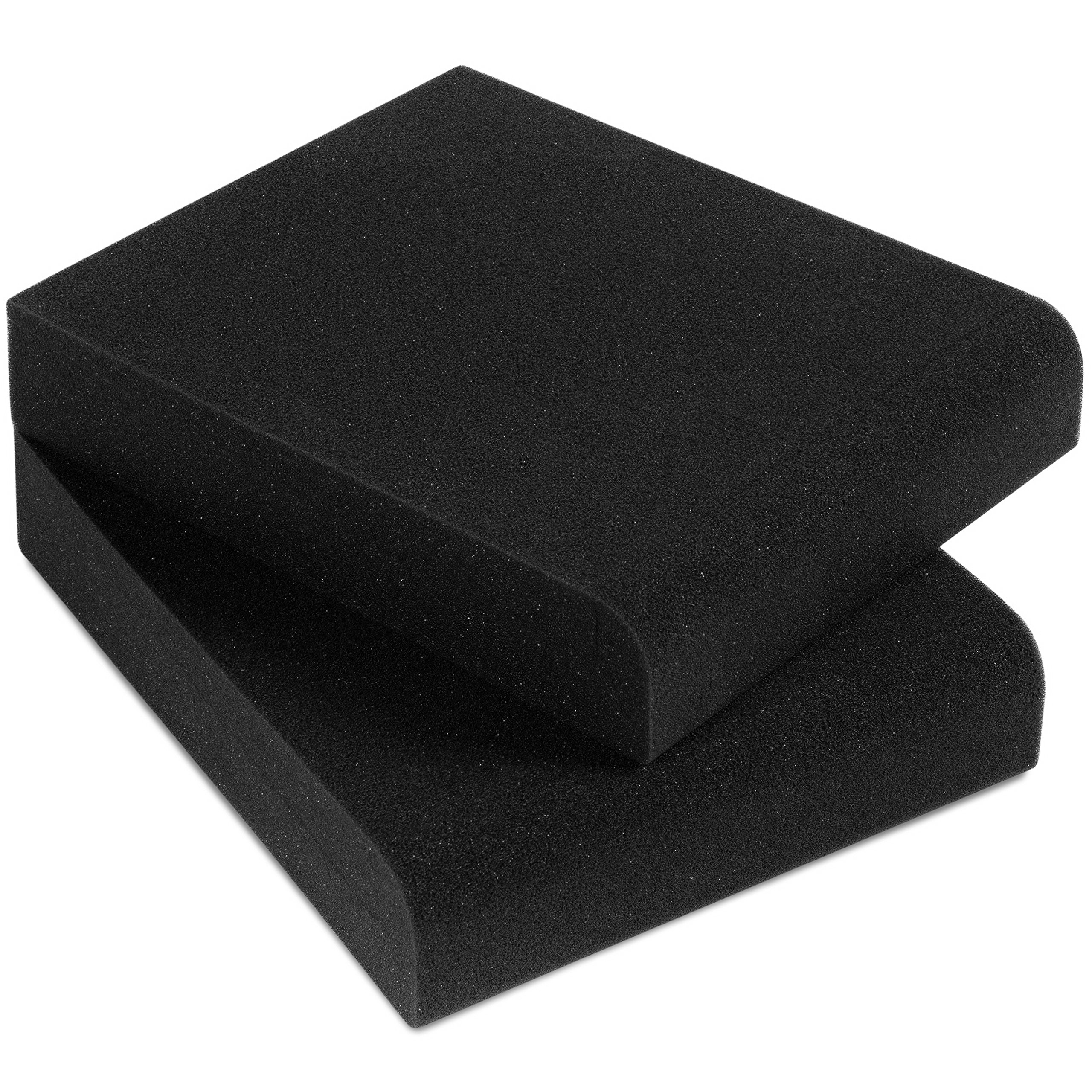 Sound Addicted - Studio Monitor Isolation Pads for 3'' - 4.5'' Inch Small Speakers, Pair of Two High Density Acoustic Stands Foam Which Fits most Bookshelf's and Desktops | SMPad 4 by Sound Addicted