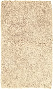 Pinzon Non-Slip Cotton Looped Bathroom Rug - 30 x 50 Inch, Ivory