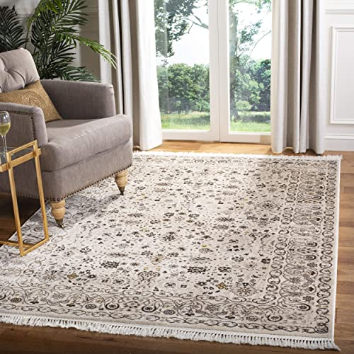 Safavieh Serenity Collection SER213F Cream and Brown Area Rug 4 x 6