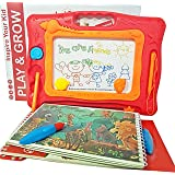 Magnetic Drawing Board Magna Doodle – 2 Water Coloring Books for toddlers – Erasable Doodle Board for Boys and Girls – Travel Size Doodle Pad Helps Your Kids Write & Sketch by LootSoul