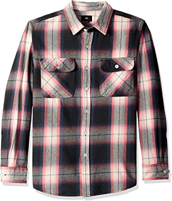Obey Mens Mission Long Sleeve Woven Shirt