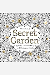 Secret Garden: An Inky Treasure Hunt and Coloring Book (For Adults, mindfulness coloring) Paperback
