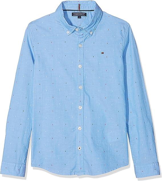 Tommy Hilfiger Dobby L/s Blusa, Azul (Shirt Blue/Multi 474), 98 (Talla del Fabricante: 3) para Niños: Amazon.es: Ropa y accesorios