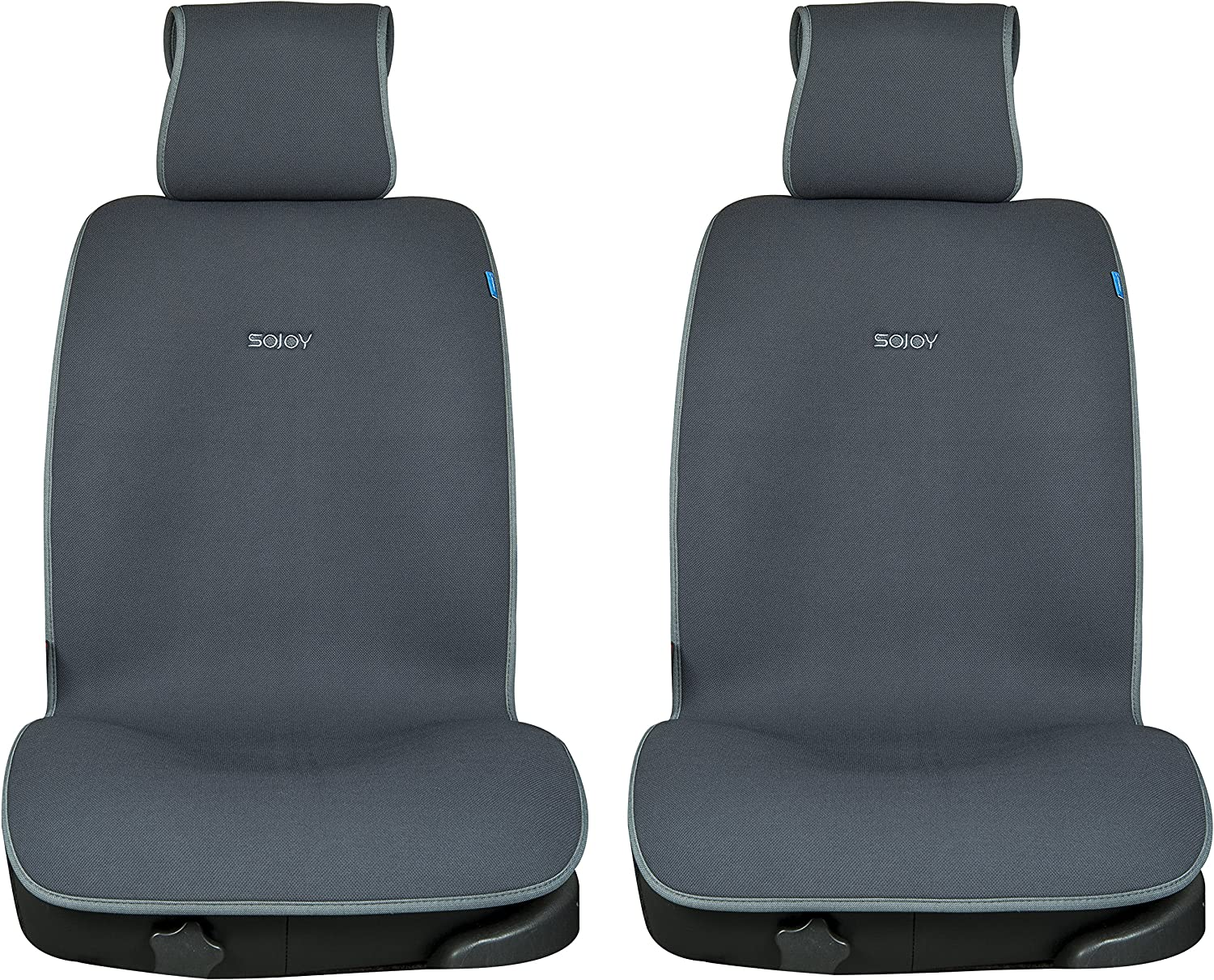 iHealthComfort Cooling Summer and Warming Winter Front Set Car Seat Cushion Covers (Dark Grey) bene180523