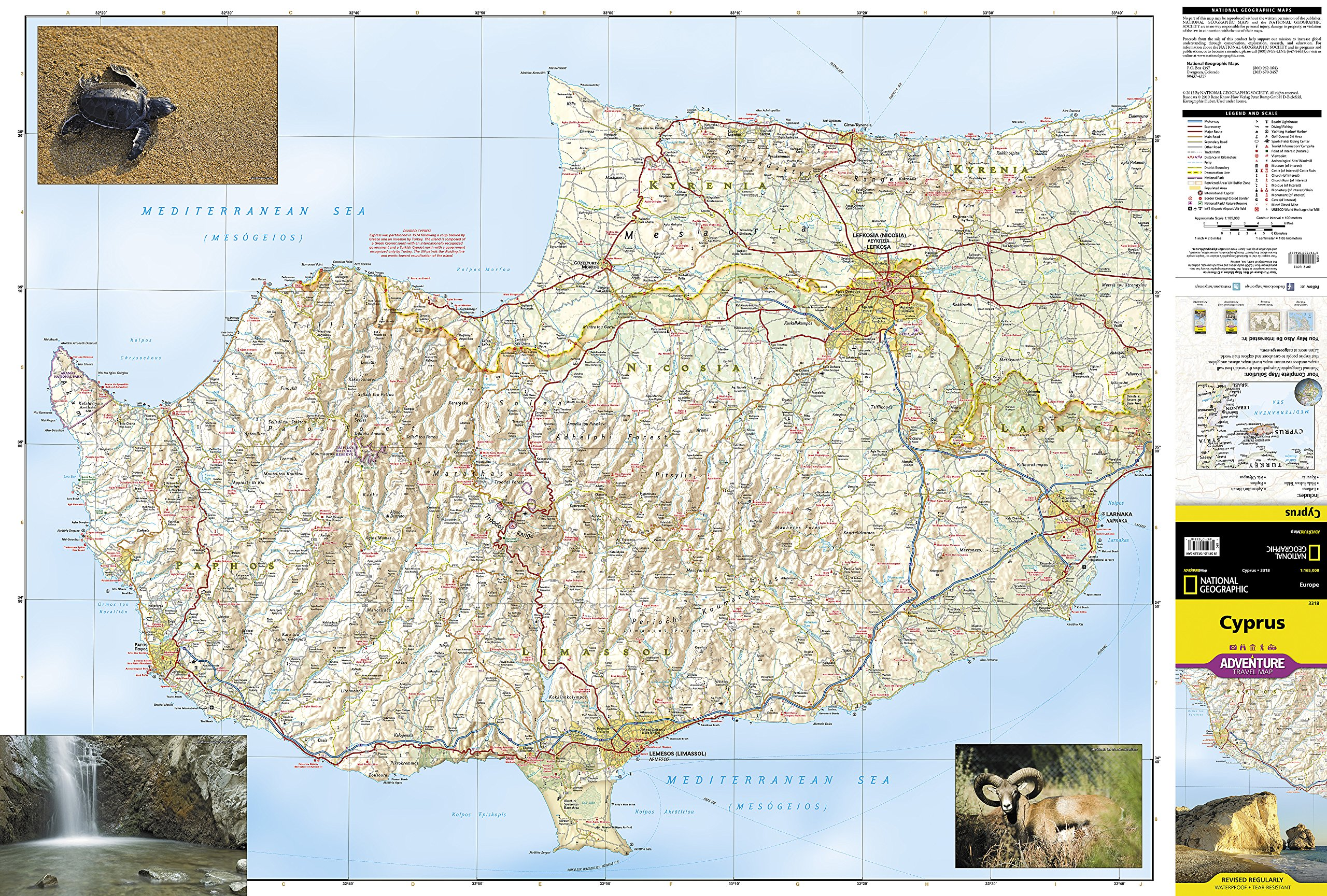 Cyprus National Geographic Adventure Map National Geographic Maps