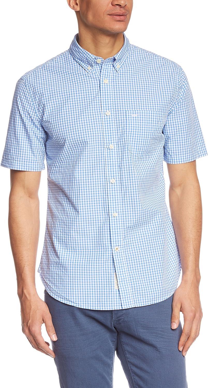 Dockers - Camisa casual a cuadros de manga corta para hombre, DARNELL - MERIDIAN BLUE 0021, 44/46: Amazon.es: Ropa y accesorios