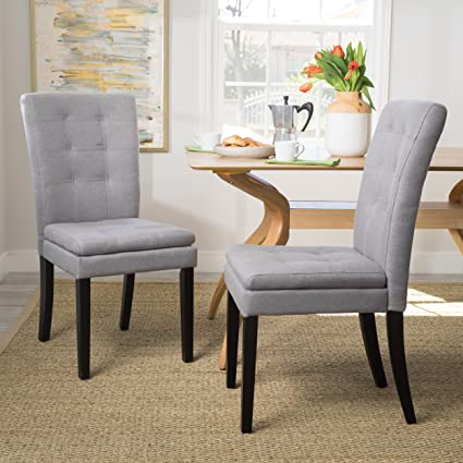 121c7d0372cc Image Unavailable. Image not available for. Color: Christopher Knight Home  300401 Badin Fabric Dining Chair (Set of 2) Light Grey
