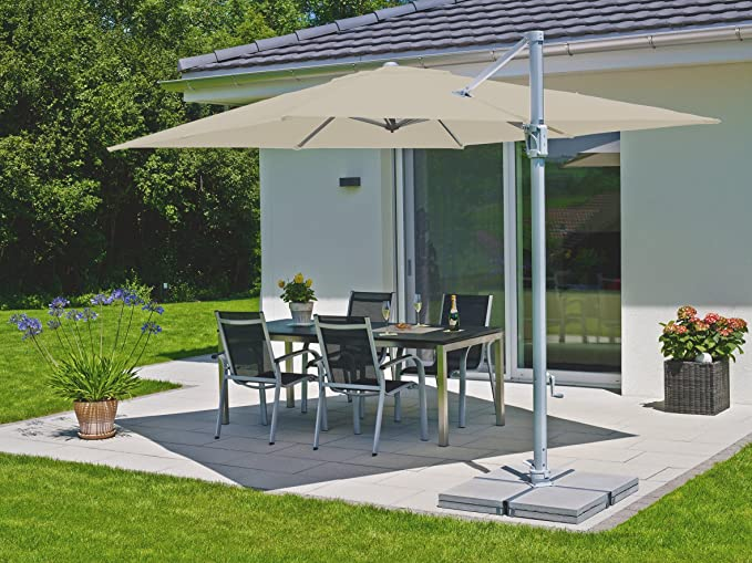 Suncomfort by Glatz Sunflex - Sombrilla, 300 x 300 cm, Off-Grey: Amazon.es: Jardín