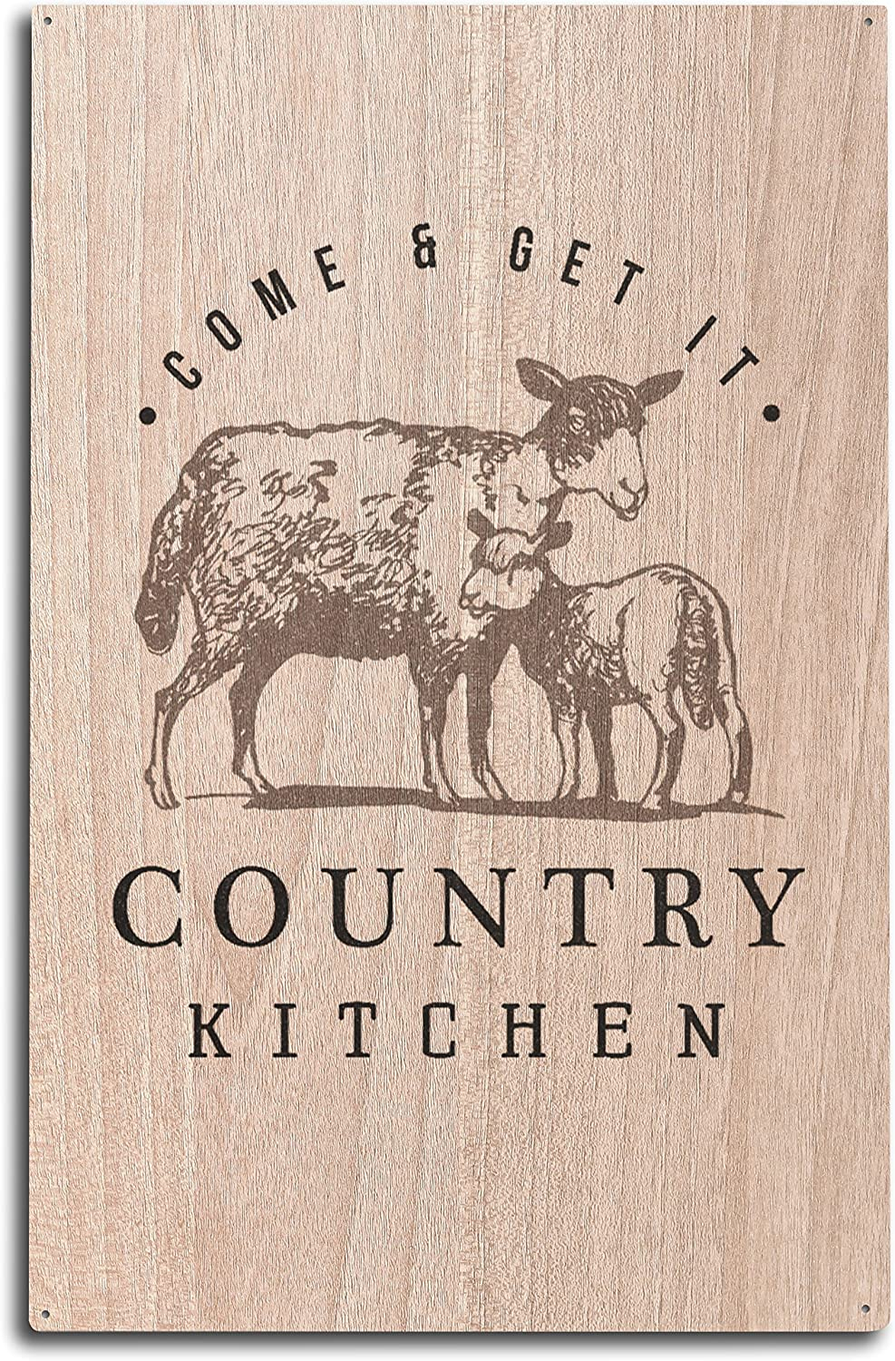Sheep on White 24x36 Giclee Gallery Print, Wall Decor Travel Poster Country Kitchen