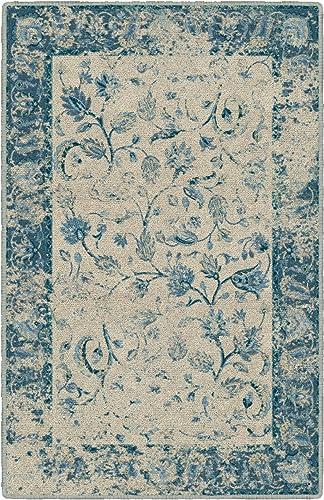 Brumlow Mills Reese Blue Vintage Persian Area Rug, 7 6 x 10