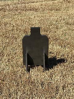 "Steel Shooting Targets 3/8"" AR500 Hardened 7x12 IDPA w/Metal Ground Range"