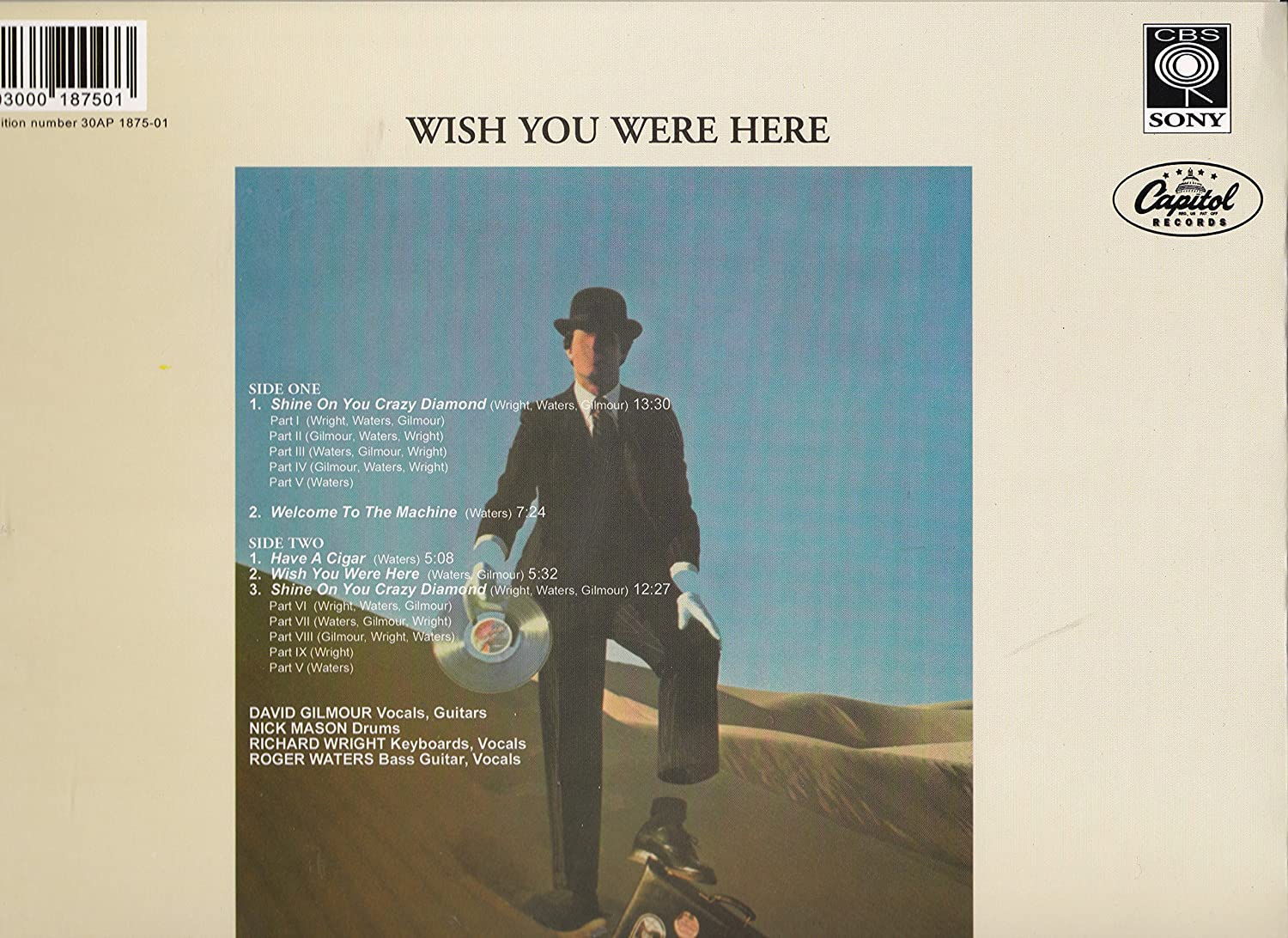 Pink Floyd - Pink Floyd - Wish You Were Here - Red Color Vinyl - 20th Anniversary Edition Reissue - UK Import - Amazon.com Music