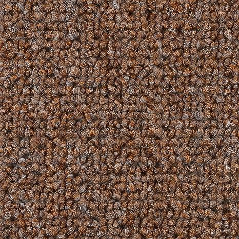 verschiedene L/ängen 400 und 500 cm breit 300 Teppichboden Auslegware Meterware Schlinge braun beige 200