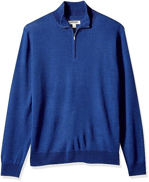 Goodthreads Merino Wool Quarter Zip Sweater - Sudadera Hombre: Amazon.es: Ropa y accesorios
