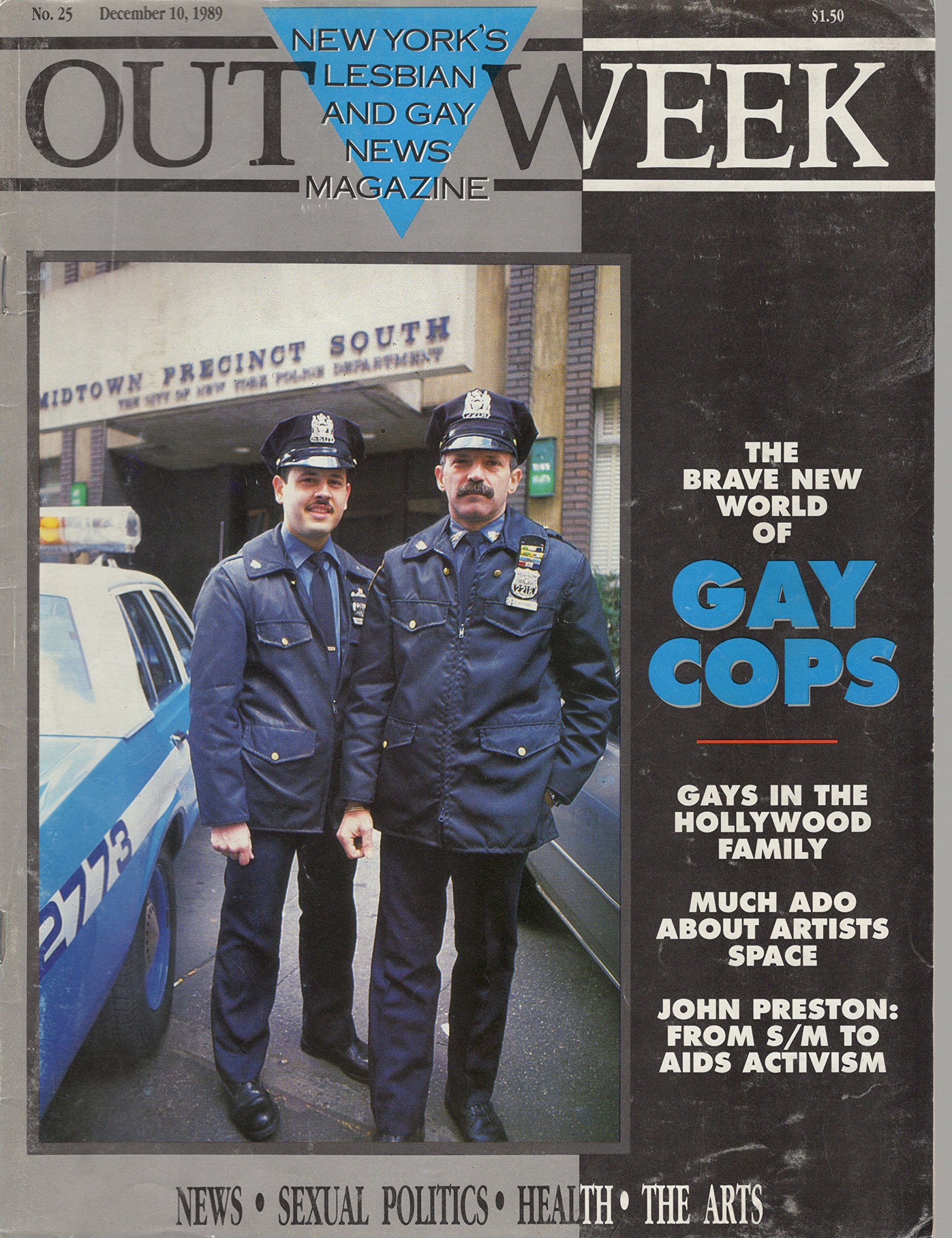 OUTWEEK, New York's Lesbian and Gay Newsmagazine, No. 25, December 10, 1989  : The Brave New World of Gay Cops Single Issue Magazine – 1960