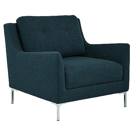 Pleasing Rivet Abel Modern Contemporary Accent Chair 32W Navy Creativecarmelina Interior Chair Design Creativecarmelinacom