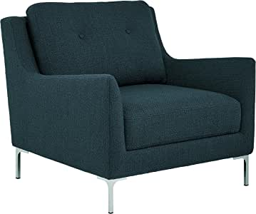 26W Rivet Willard Contemporary Accent Lounge Chair Charcoal