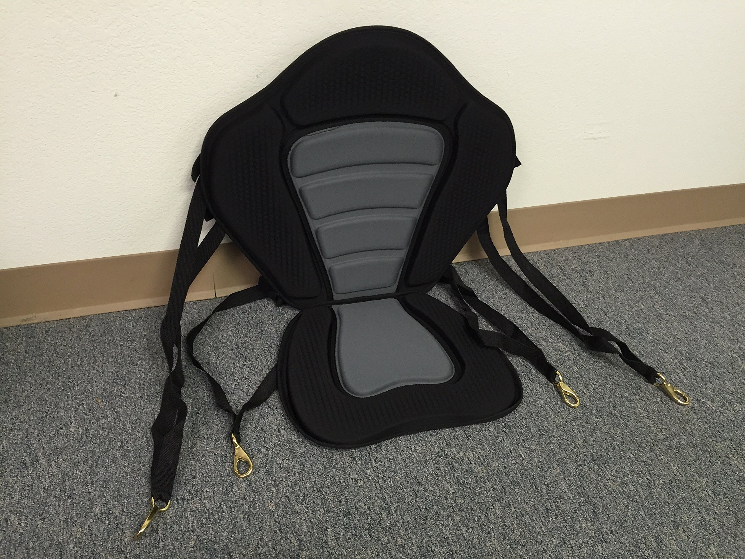 Pactrade Marine Adjustable Padded Deluxe Kayak Seat Detachable Back Backpack/Bag Canoe Backrest by Pactrade Marine