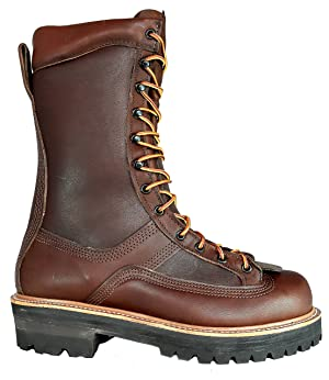 HOFFMAN BOOTS Men's EH All Leather 600CT Composite Toe Powerline 10.5EE Browns