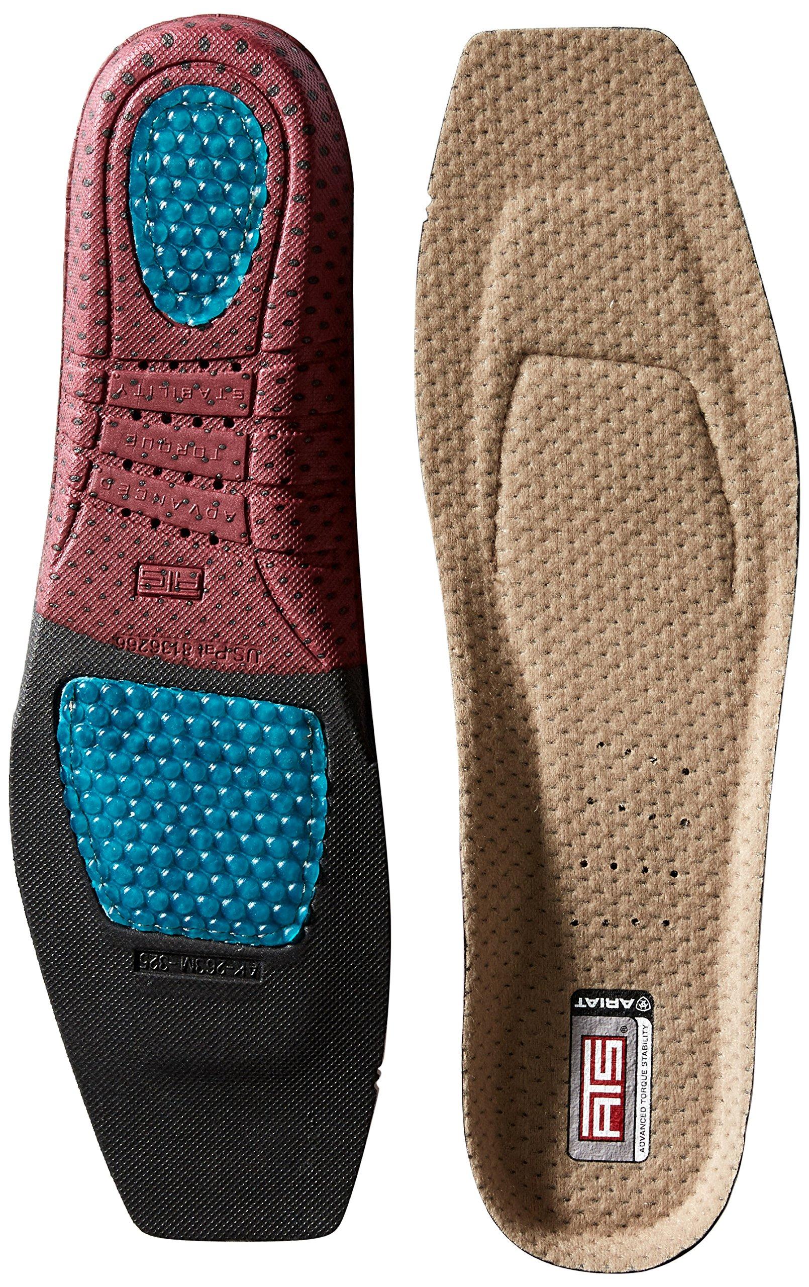 Ariat Men's ATS Footbed Wide Square Toe-10008009, multi 10.5