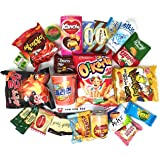 Ultimate Korean Snack Box (25 Count)   Variety Assortment of Korean Snacks, Chips, Cookies, Candies   Gift Care Package