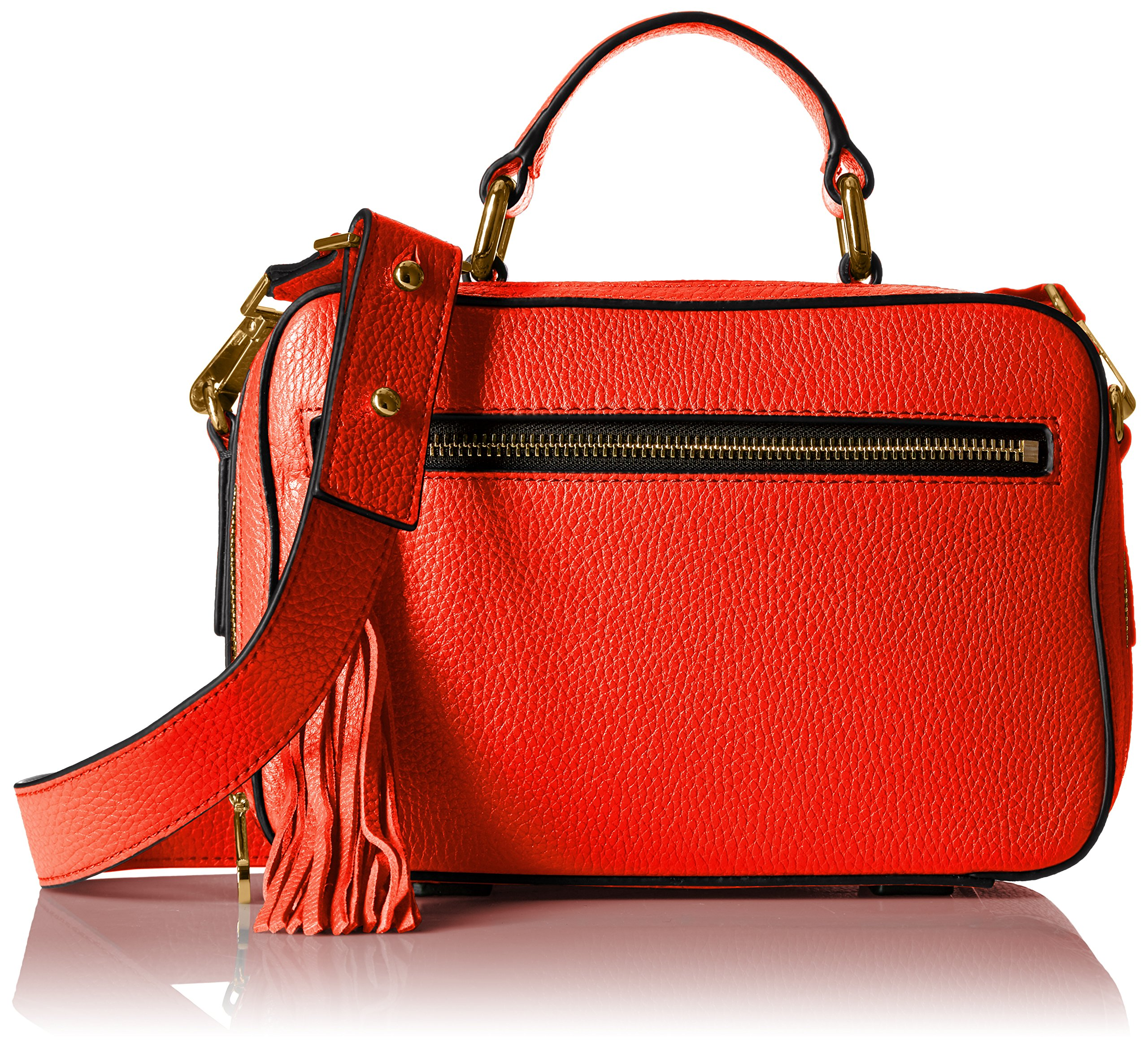 MILLY Astor Small Satchel, Flame by MILLY