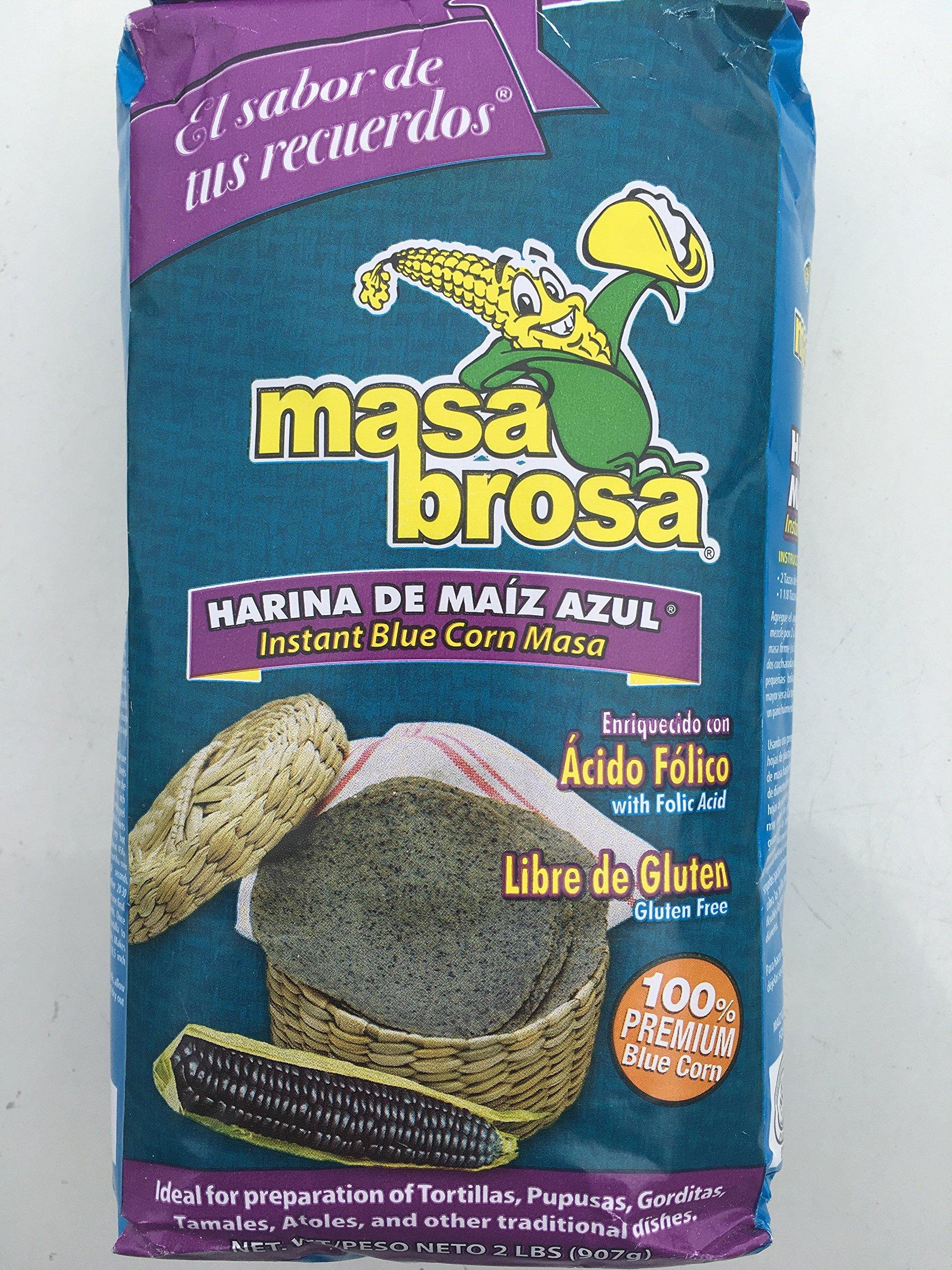 Blue Corn Masa Flour Harina Azul Premium Quality 100% natural Gluten free 2 pounds