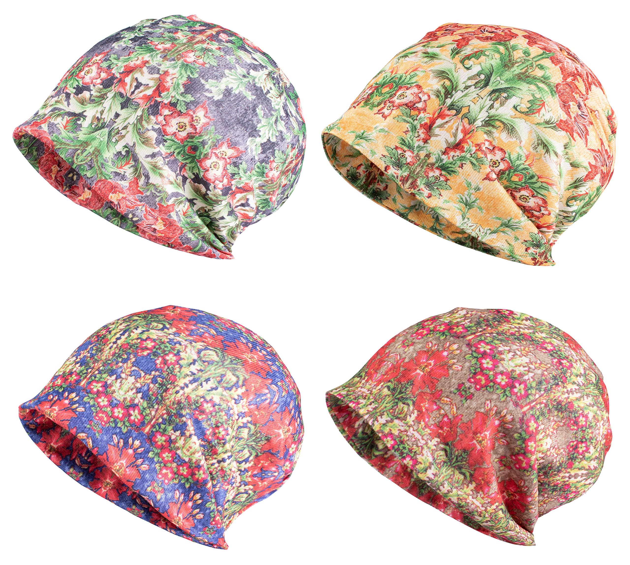 Jemis Skullies Beanies Thin Bonnet Cap Autumn Casual Beanies Hat (4 Pack Green & Red & Yellow & Blue) by Jemis