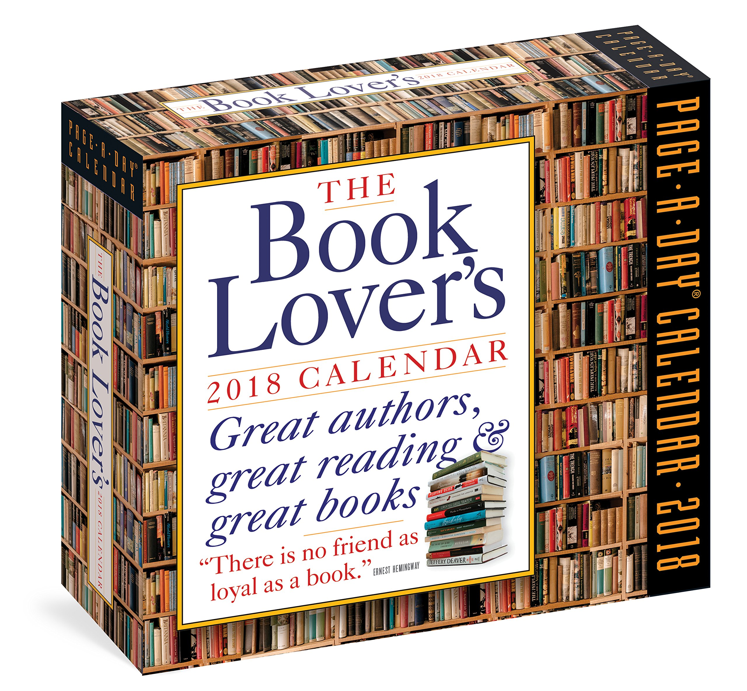 The Book Lover's Page-A-Day Calendar 2018