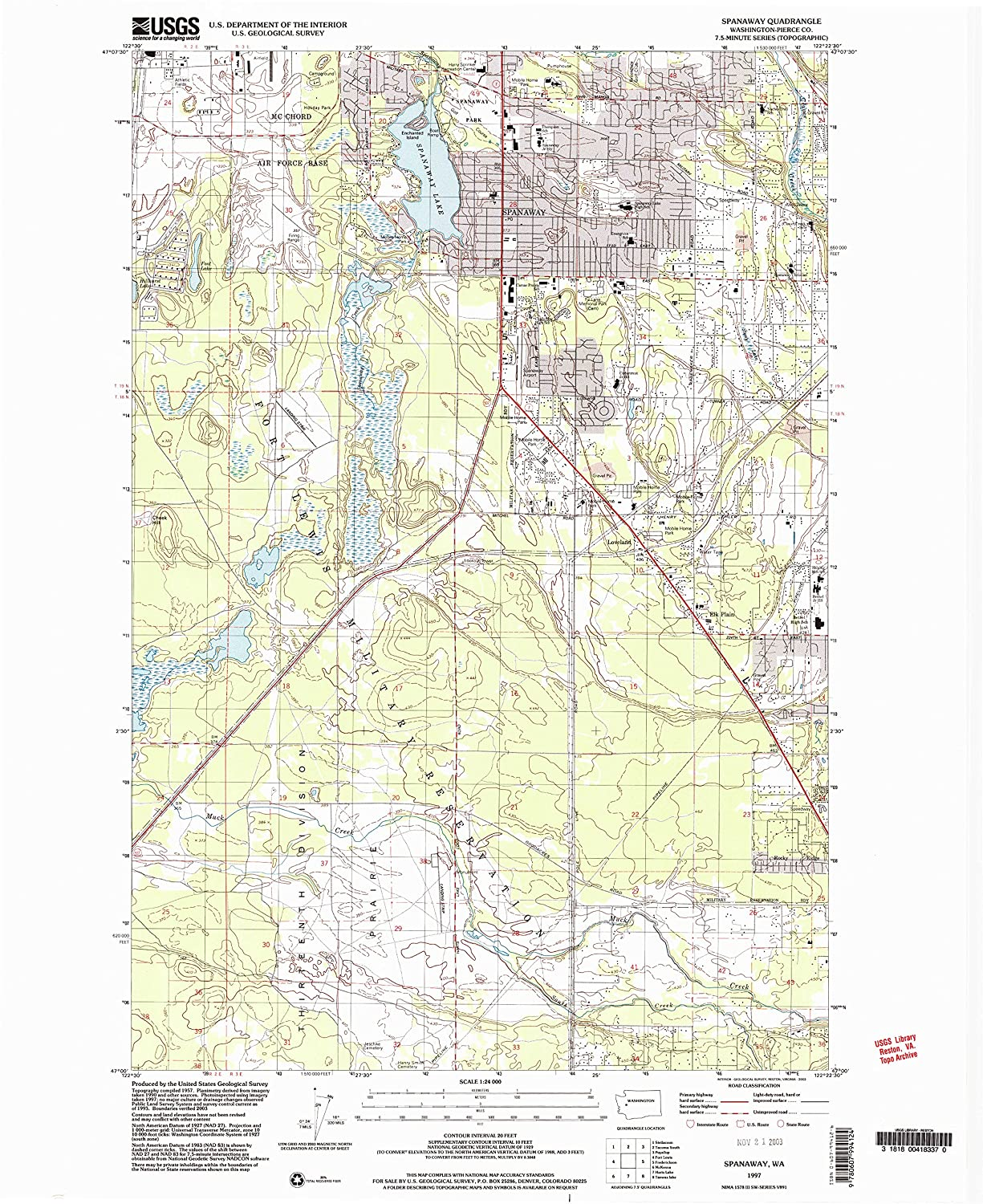 Amazon Com Yellowmaps Spanaway Wa Topo Map 1 24000 Scale 7 5 X