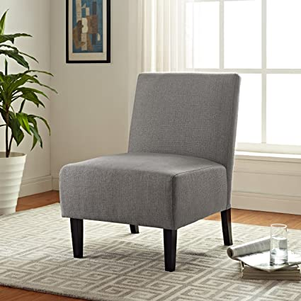 Serta UPH10022C Palisades Slipper Chair, Accent, Gray