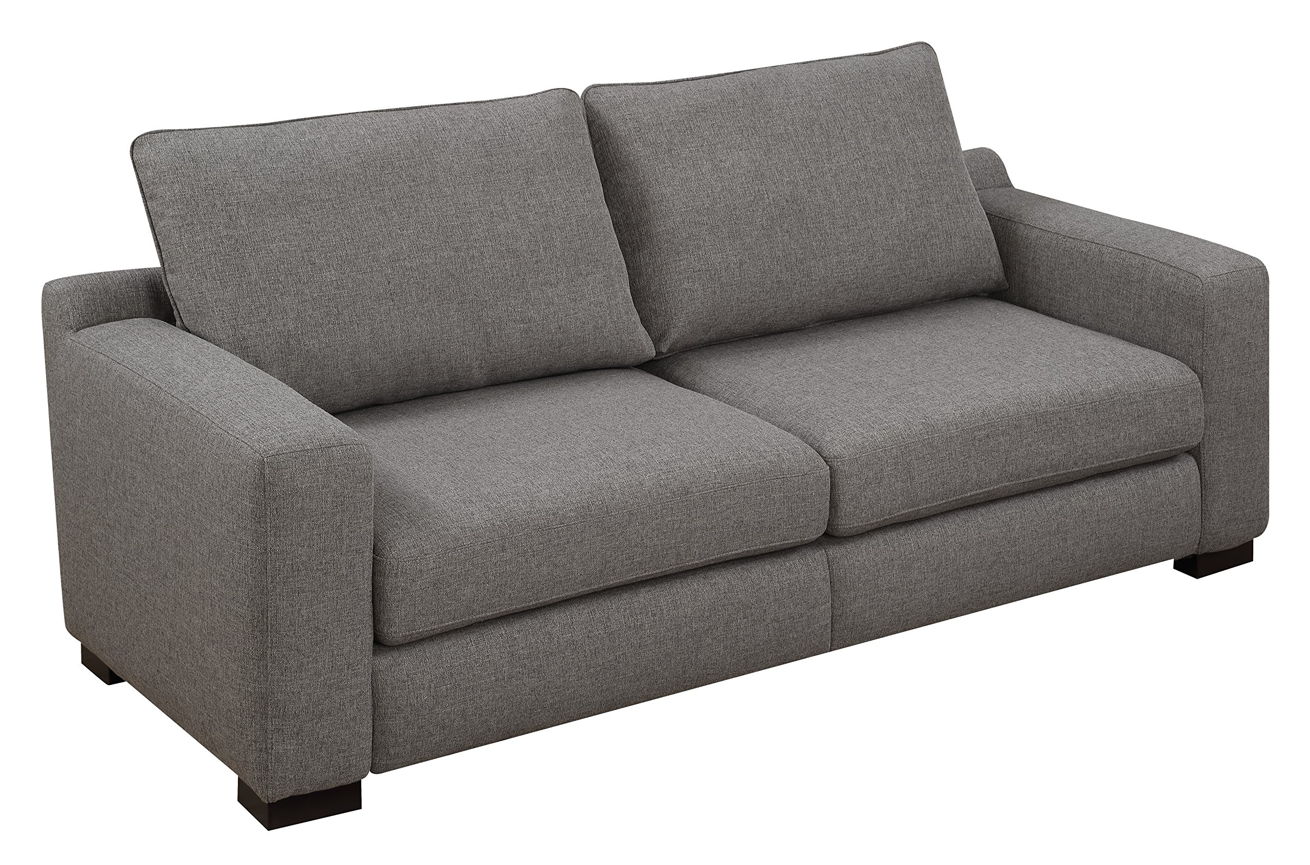 """Serta Geneva 78"""" Sofa in Cozy Gray - Perfect sofa for small living spaces Trendy wide track Arm and low Back Choose from two neutral colors to match your decor - sofas-couches, living-room-furniture, living-room - A1RKGIq7OOL -"""