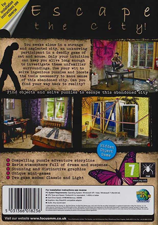 Lost In The City (PC CD): Amazon co uk: PC & Video Games