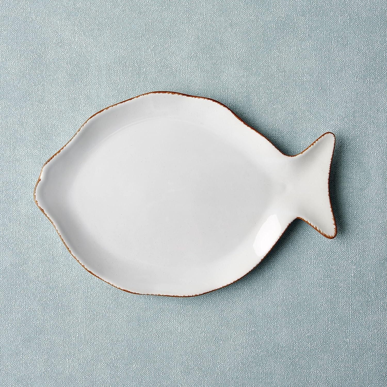 charming einfache dekoration und mobel fischgeschirr von butlers #1: BUTLERS PORTOFINO Fischteller Weiß: Amazon.de: Küche u0026 Haushalt