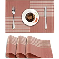 HOKIPO® PVC Dining Table Kitchen Placemats, 45 x 30 cm