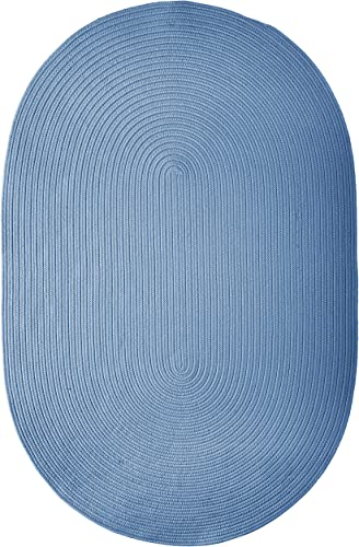 Boca Raton Polypropylene Braided Rug, 8-Feet by 11-Feet, Blue Ice