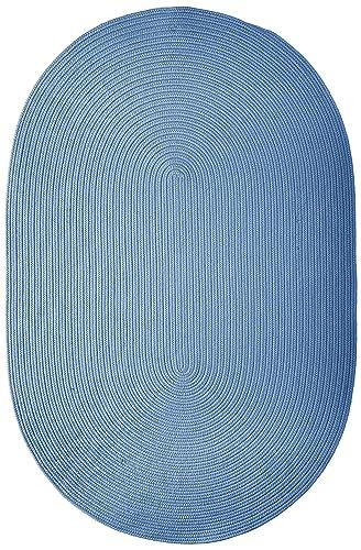 Boca Raton Polypropylene Braided Rug, 4-Feet by 6-Feet, Blue Ice